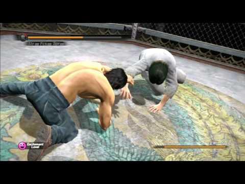 Yakuza 5 - Shinada cage fighting in Underground Purgatory