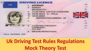 UK Driving Test - Rules Regulations Mock Theory Test