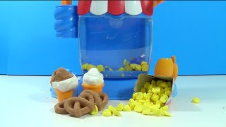 Moon Dough Ice Cream Popcorn Machine Movie Snacks Ice Cream Sundae Pretzels Plastilina Play Doh