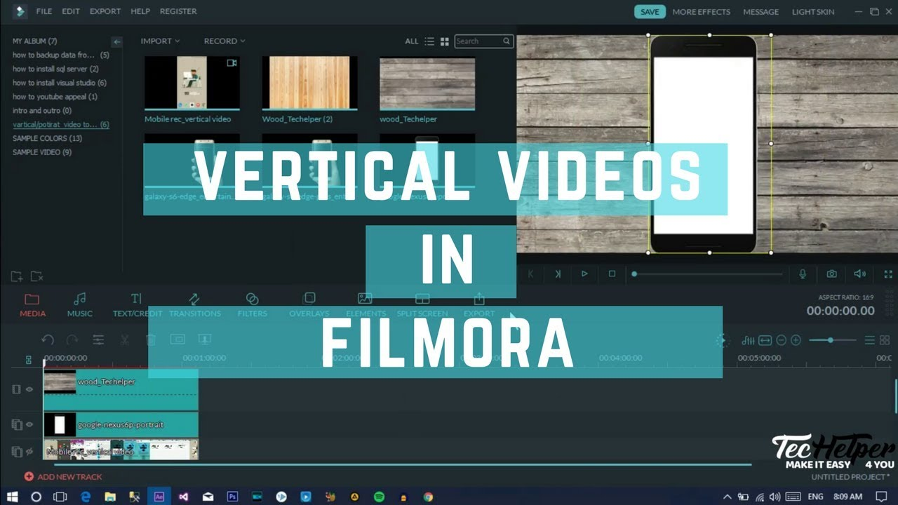 Converting vertical video to horizontal using filmora video editor converting vertical video to horizontal using filmora video editor techelper ccuart Choice Image