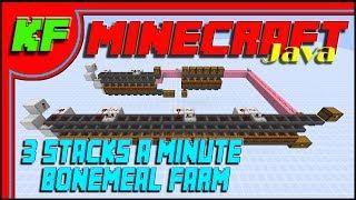 How to build a fast bone meal farm // Minecraft Java tutorials