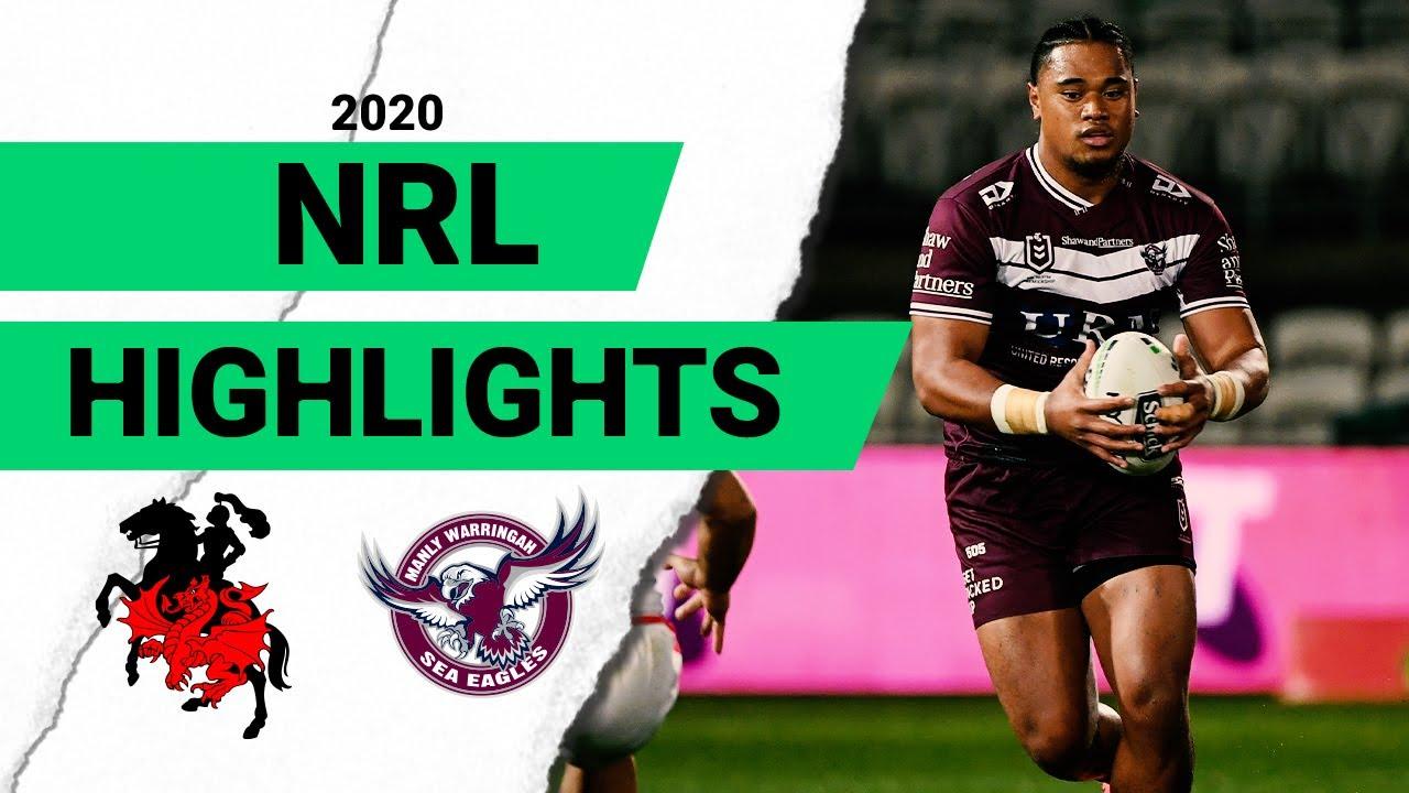 Dragons v Sea Eagles | Round 9 2020 | Telstra Premiership | NRL