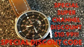 Naviforce Pilots Watch Only $10,99 With This Special Channel Code
