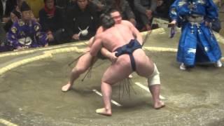 20150112 大相撲初場所2日目 白鵬vs栃ノ心 白鵬横綱相撲.