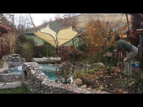 DIY Backyard Garden Flower Sculpture