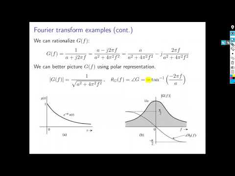 Signal and systems overview: Fourier transform of finite energy signals