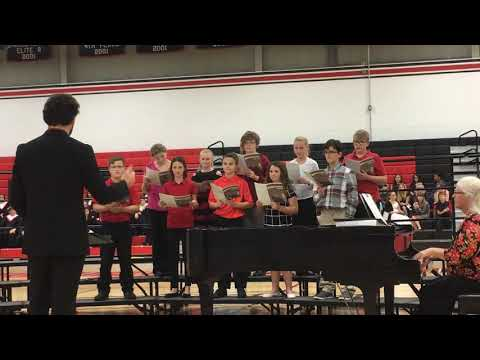 "Orion Middle School's cadet choir sings ""David and Goliath"""
