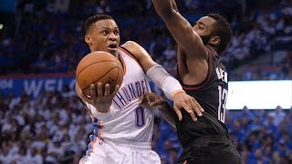 Russell Westbrook Plays Smarter! Harden Last Shot! Rockets Thunder Game 3