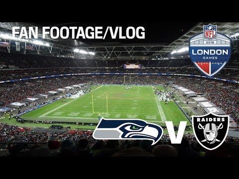 SEATTLE SEAHAWKS VS OAKLAND RAIDERS (NFL London Games 2018) Fan Footage/Vlog