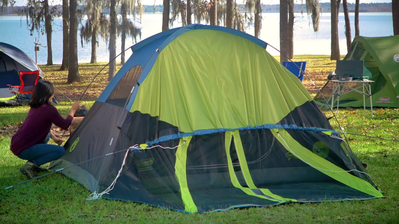 hot sale online 4d255 784e0 How to Set Up Your Coleman® Dark Room 4-Person Tent
