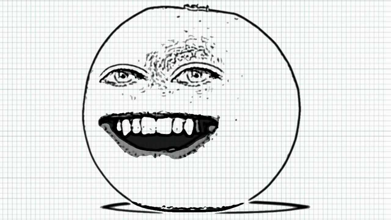annoying orange coloring pages - how to draw annoying orange from the annoying orange