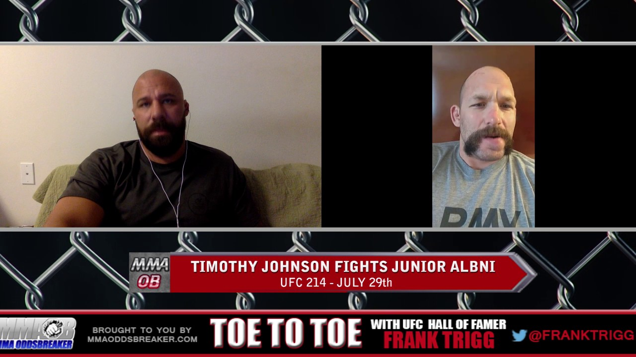 Frank Trigg pre-fight interview with UFC on FOX 25's Tim Johnson