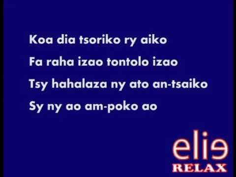 ElieRelax  Karaoke Tsy Ampy abel Ratsimba