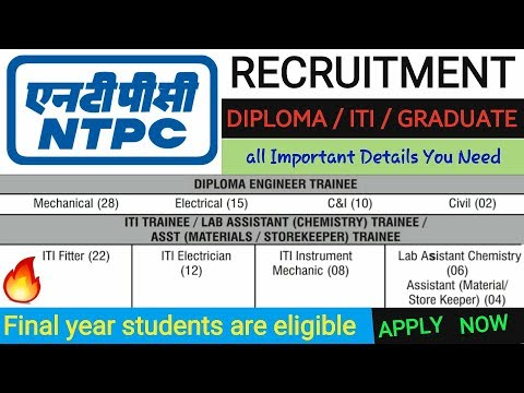 NTPC recruitment 2018 : ER-II HQ Bhubaneshwar { DIPLOMA/ITI/Graduation } – 107 post