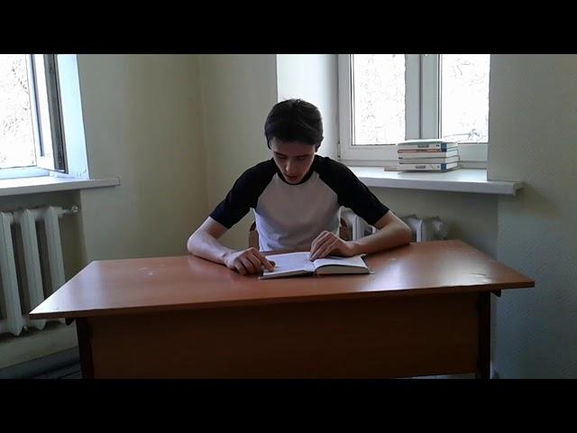 Изображение предпросмотра прочтения – ДанилаВаснев читает отрывок изпроизведения «Матрёнин двор» А.И.Солженицына