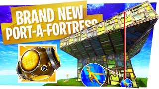 The NEW PORT A FORTRESS & what it looks like - Fortnite Battle Royale New Item