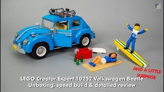 LEGO Creator Expert Volkswagen Beetle (10252) speed build & review + surprise!