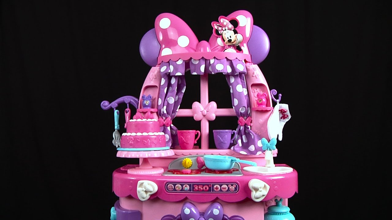 Minnie Bowtique Sweet Surprise Kitchen from Just Play - YouTube