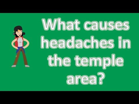 What causes headaches in the temple area ? | Most Rated Health FAQ Channel