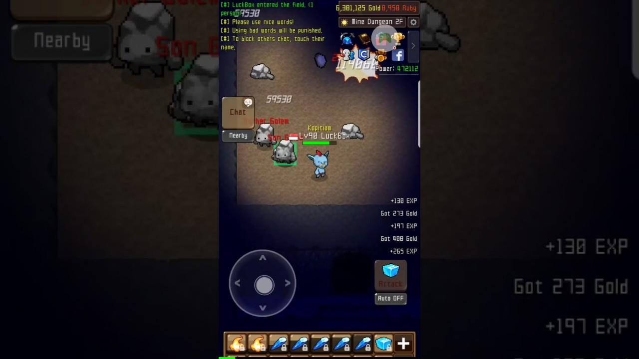 Grow Stone Online - All Golem Boss Dungeon - YouTube