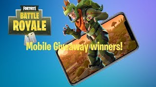 Fortnite mobile giveaway winners! [Closed]