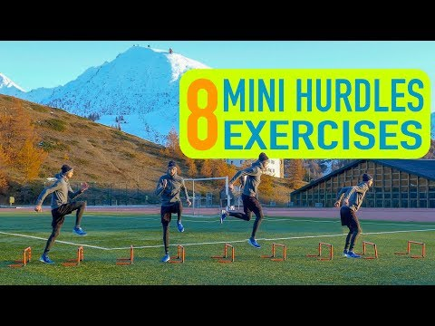 MINI HURDLE DRILLS: 8 athletics running exercises. Agility, Plyo, Speed training (run faster today)