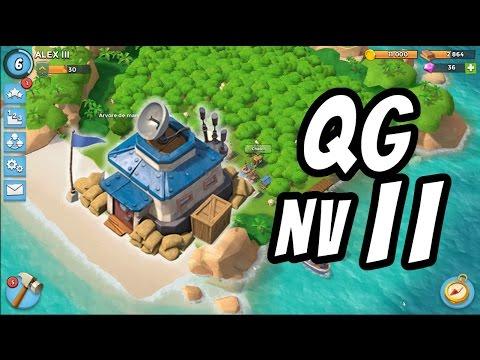 QG Nv 11 + UP DO DIA!   Boom Beach   #16 - Série sem Defesa QG1 ao QG16