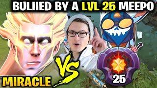 Miracle Invoker vs LvL 25 Meepo Master - Bullied So Hard