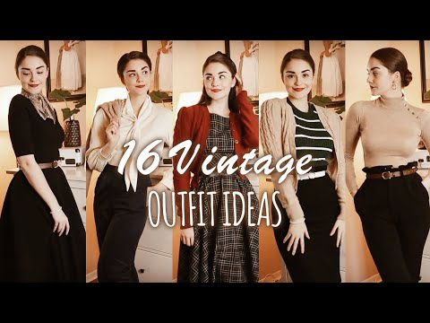 16 VINTAGE OUTFIT IDEAS for Autumn & Winter | Lookbook