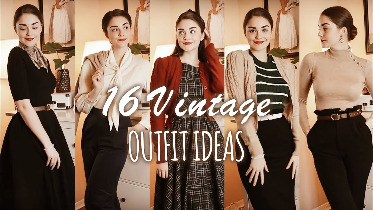 [VIDEO] - 16 VINTAGE OUTFIT IDEAS for Autumn & Winter | Lookbook 4