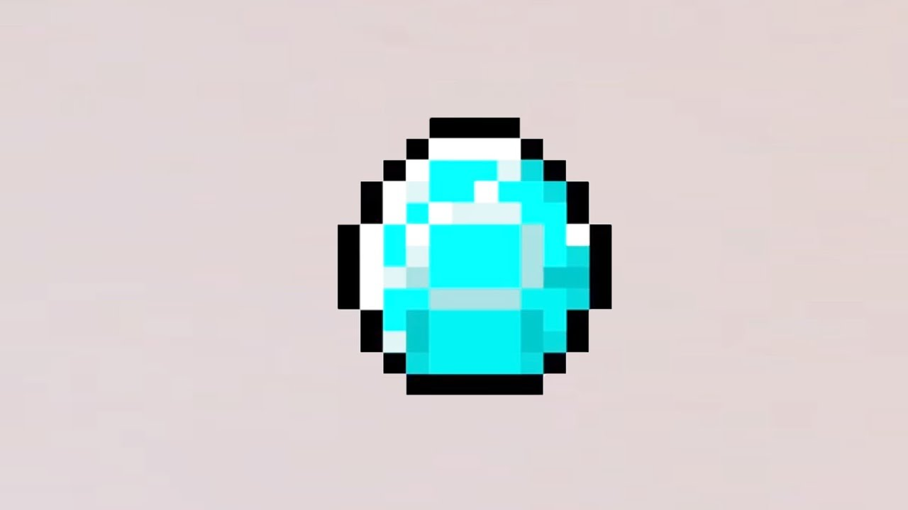 Minecraft pixel art diamond
