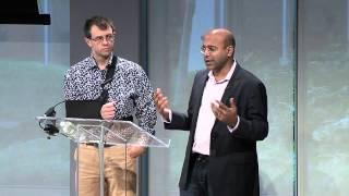 Wayfair founders Shah and Conine at Entrepreneurship Summit NYC 2013