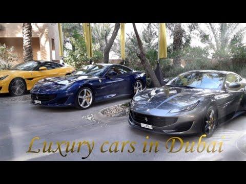 Luxury cars in Dubai. Автомобили класса люкс в Дубае.