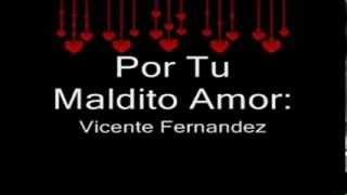 Por Tu Maldito Amor   Vicente Fernandez LETRA wmv