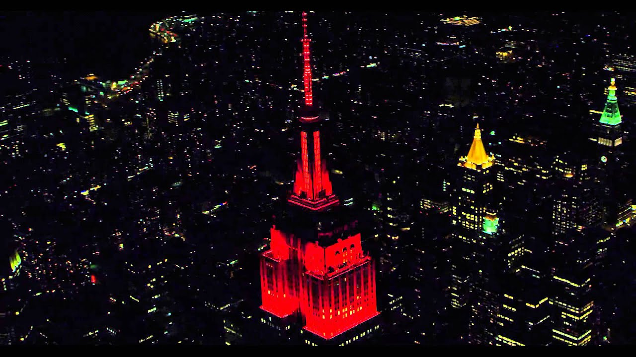 Empire State Building 2015 Halloween Light Show Photo Gallery