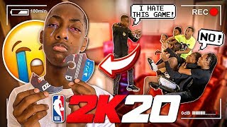 I BROKE MY LIL BROTHER 2K20 GAME!!
