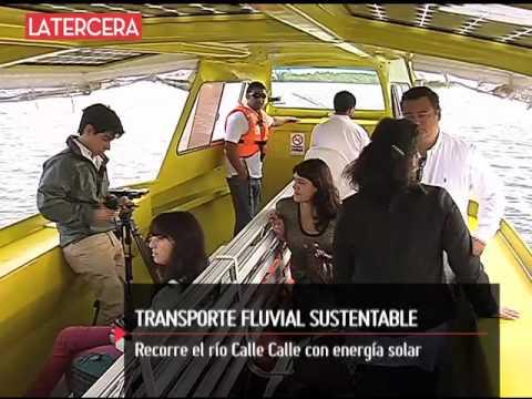 3TV - Taxi fluvial recorre el río Calle Calle con energía solar