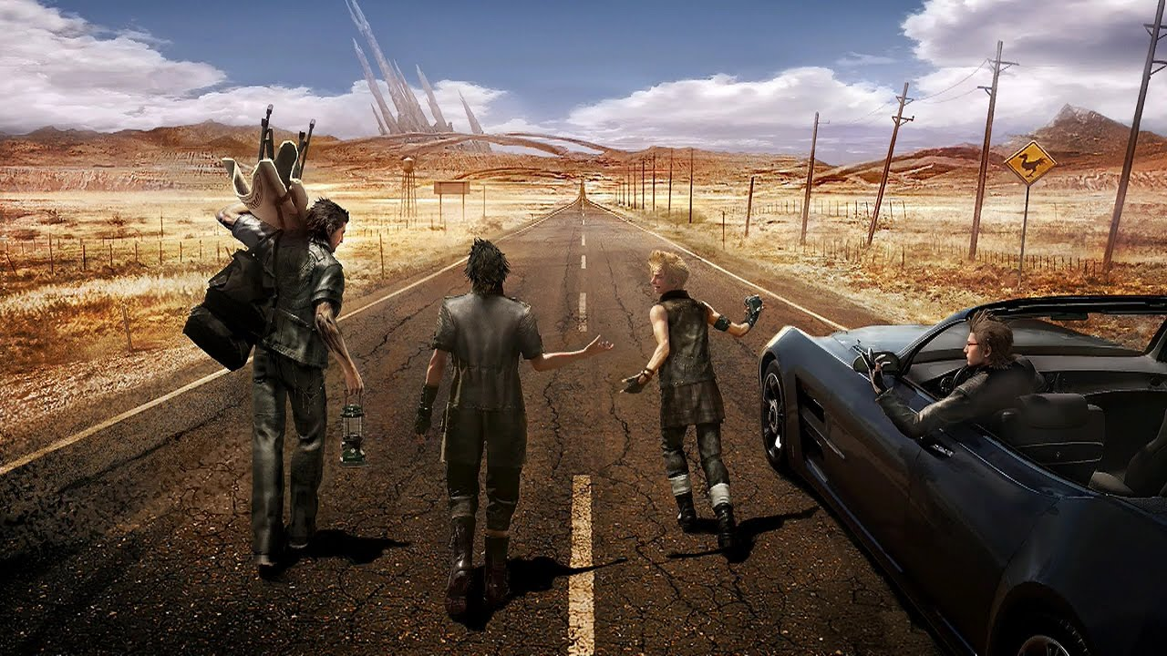 Image result for final fantasy xv car broke scenes