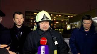 Смотреть видео Взрыв газа в доме на проспекте Народного ополчения Санкт-Петербург онлайн