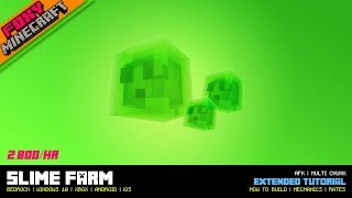 How to Make a Slime Farm | Tutorial | Minecraft Bedrock Edition (MCBE / MCPE)