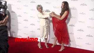 Rita Moreno & Rachel Boston | Hallmark TCA Winter 2015 | Red Carpet Arrivals | MaximoTV Broll