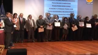 VICERRECTORADO DE INVESTIGACIÓN RINDE HOMENAJE A DOCENTES INVESTIGADORES