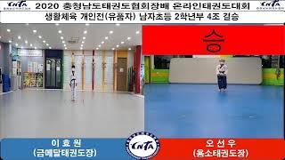 2020 충청남도태권도협회장배 온라인태권도대회