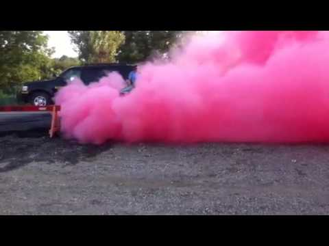 Red Colored Smoke Burnout 2012 Part 2 Youtube