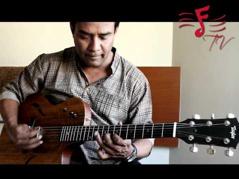 Susmit Sen from Indian Ocean endorses Taylor Guitars (T5 Model)