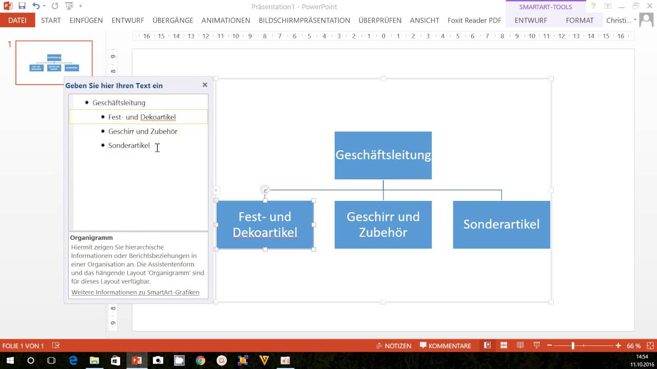 Lernvideo Organigramm Mit Powerpoint Erstellen Youtube