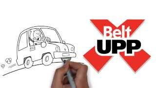 BeltUpp Car-Seat Safety Strap - use with Group 2 car seats.
