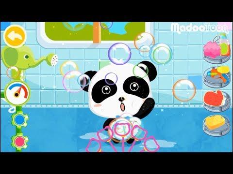 การ์ตูนเกม เวลาอาบน้ำของแพนด้าน้อย – วีดีโอเพื่อการเรียนรู้สำหรับเด็ก