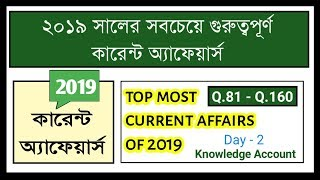 top most current affairs of 2019 | Knowledge Account | Day - 2 [current affairs]