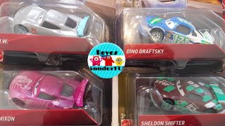 Cars 3 Sheldon shifter Sputter Stop#92, Rich Mixon tank coat #36 Dino Draftsky clutch aid #121 CaseB